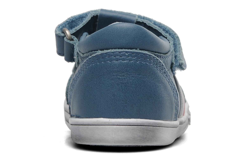 Chaussures à scratch Kickers Troy Bleu vue droite
