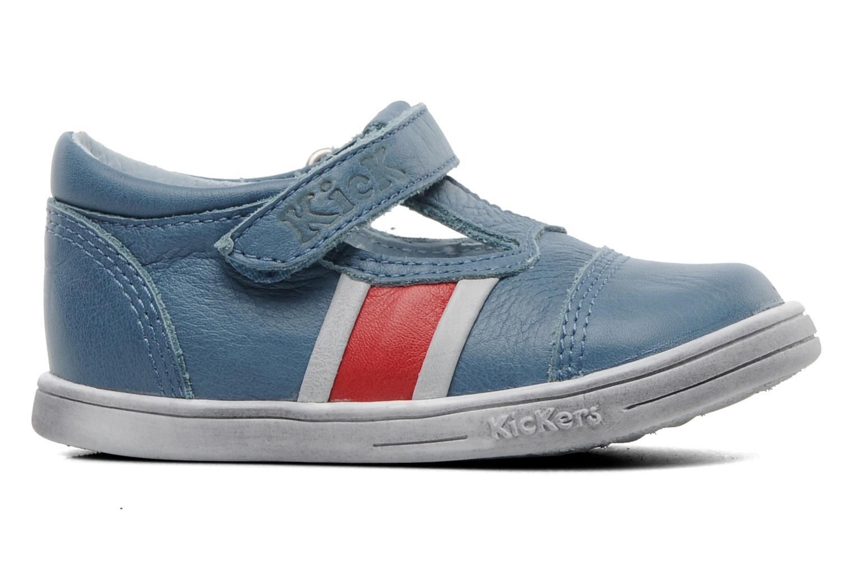 Schoenen met klitteband Kickers Troy Blauw achterkant