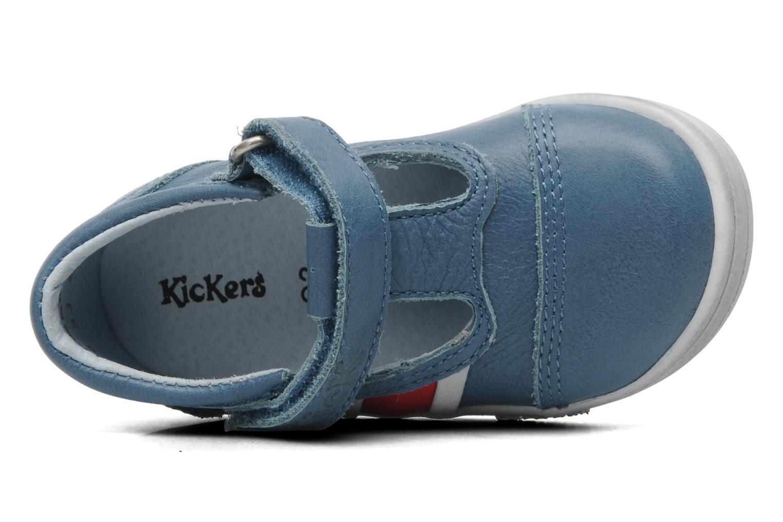 Schoenen met klitteband Kickers Troy Blauw links