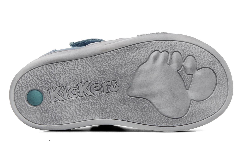 Chaussures à scratch Kickers Troy Bleu vue haut