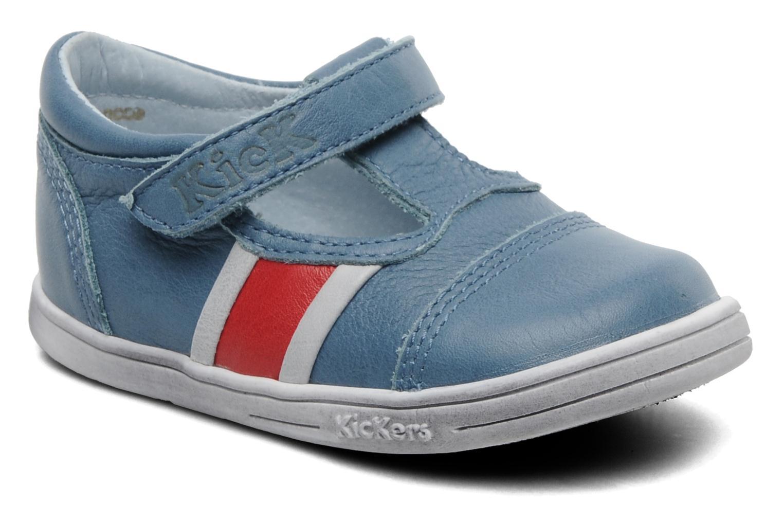 Schoenen met klitteband Kickers Troy Blauw detail
