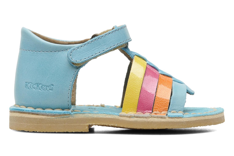 Sandales et nu-pieds Kickers Colmari Bleu vue derrière