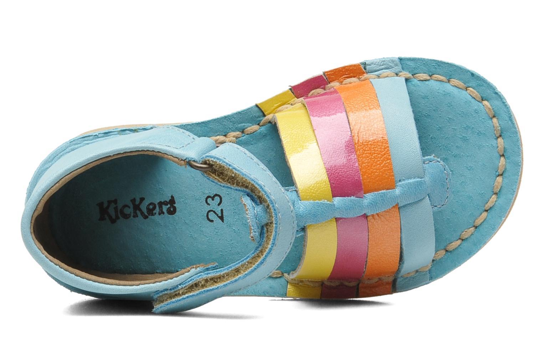 Sandalen Kickers Colmari Blauw links