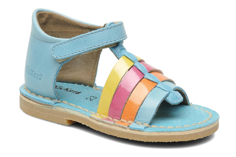 Sandales et nu-pieds Kickers Colmari Bleu vue détail/paire