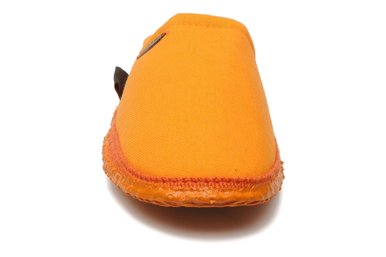 Chaussons Giesswein Villach W Orange vue portées chaussures
