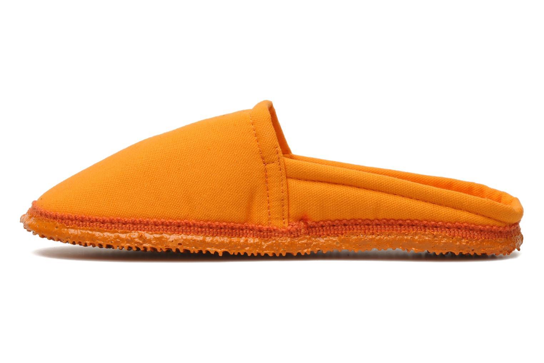 Chaussons Giesswein Villach W Orange vue face