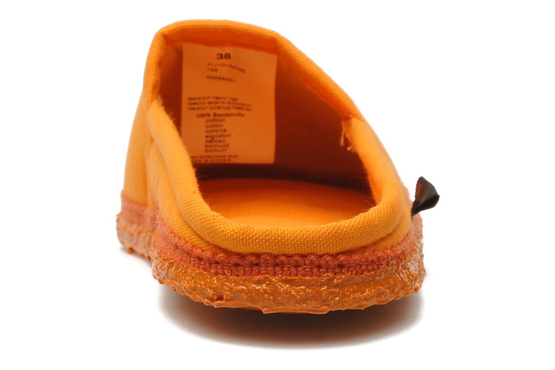 Chaussons Giesswein Villach W Orange vue droite