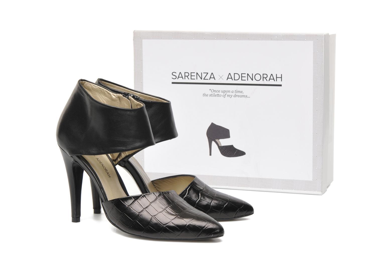 ADENORAH Croc Vernis Noir/Noir