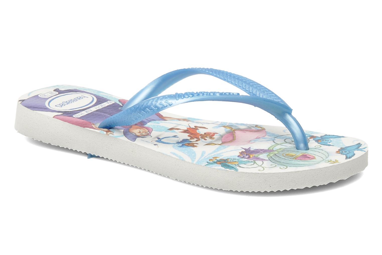 Zehensandalen Havaianas Slim Princess blau detaillierte ansicht/modell