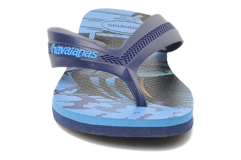 Tongs Havaianas Kids Max Heroes Bleu vue portées chaussures