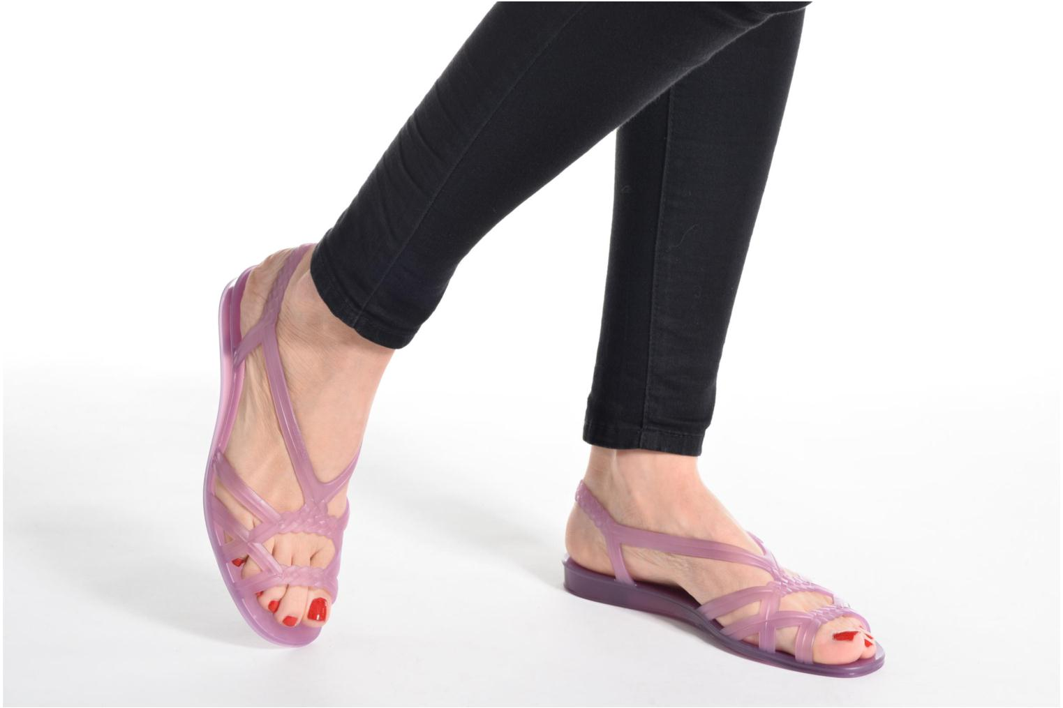Sandals Lemon Jelly Mint Purple view from underneath / model view