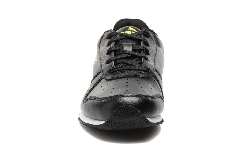 Sneaker Puma Fieldsprint L JR schwarz schuhe getragen