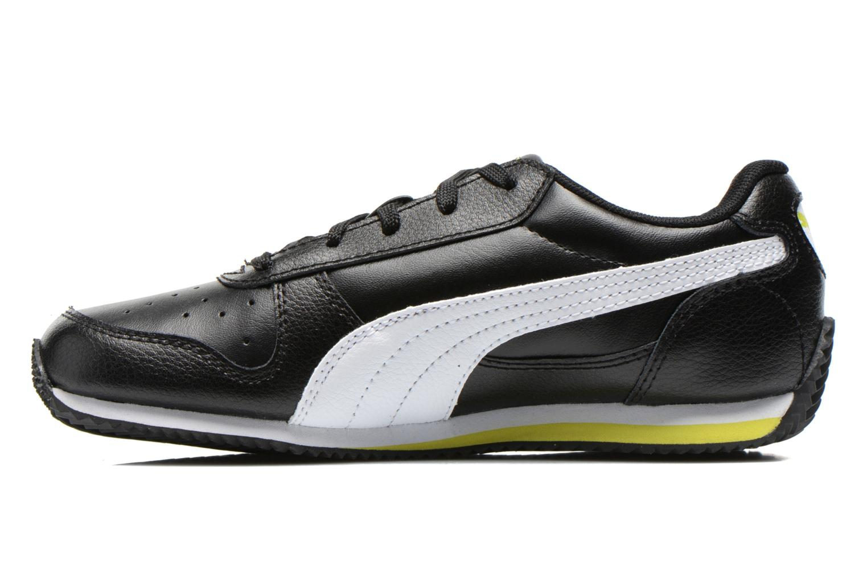 Sneakers Puma Fieldsprint L JR Zwart voorkant