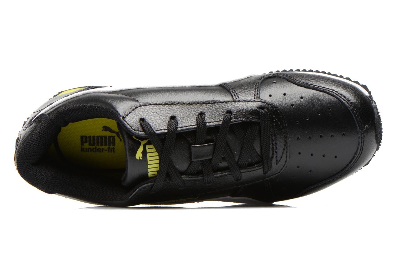 Sneaker Puma Fieldsprint L JR schwarz ansicht von links