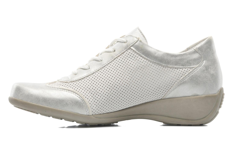 Snörade skor Remonte Aram r9802 Vit bild från framsidan