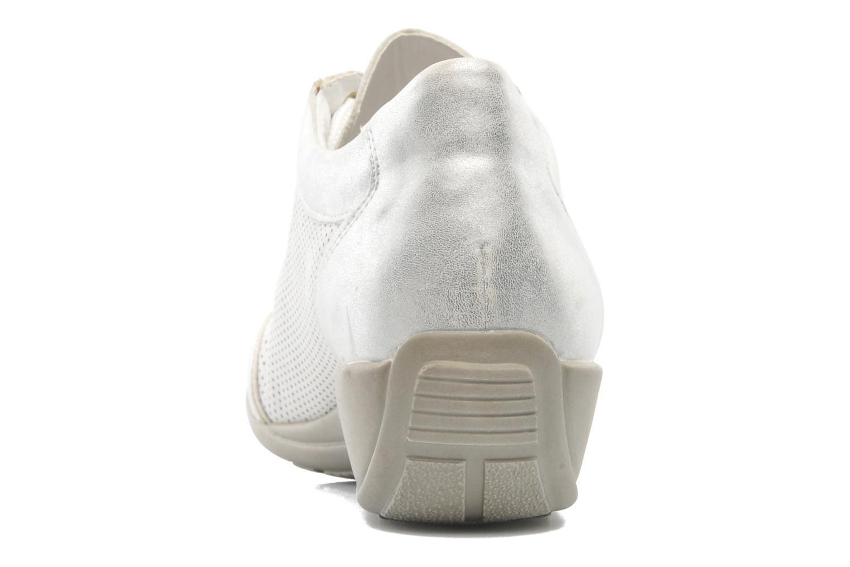 Snörade skor Remonte Aram r9802 Vit Bild från höger sidan