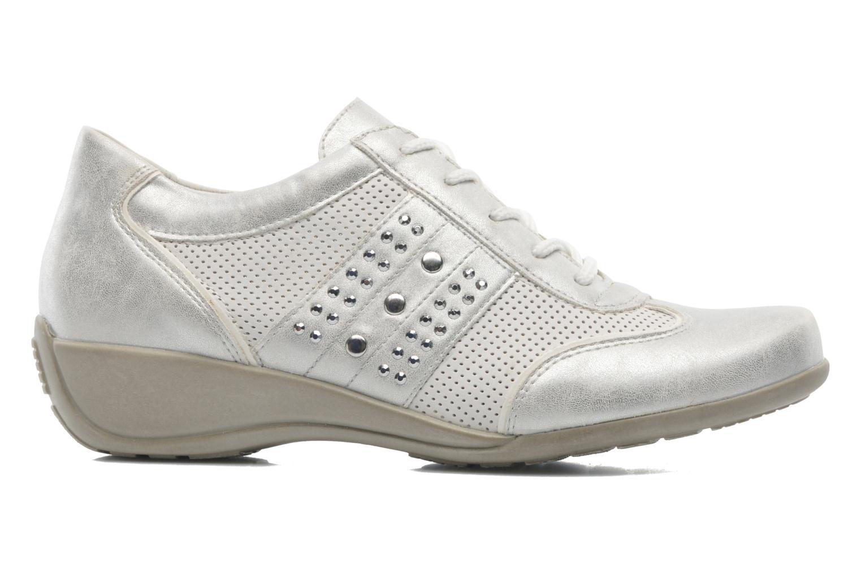 Snörade skor Remonte Aram r9802 Vit bild från baksidan