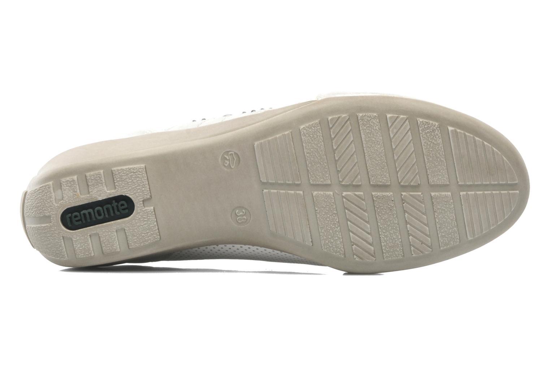 Zapatos con cordones Remonte Aram r9802 Blanco vista de arriba