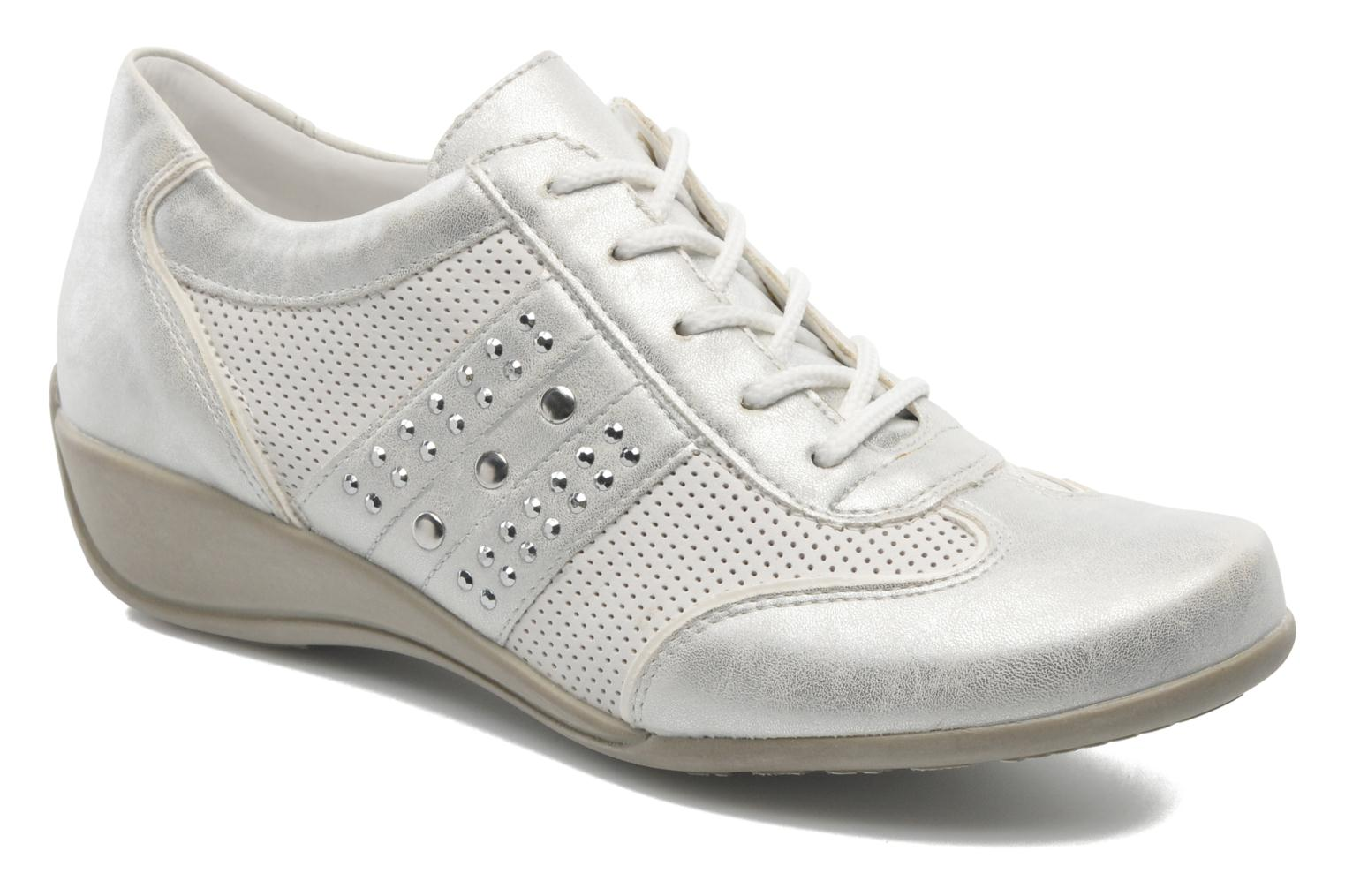 Lace-up shoes Remonte Aram r9802 White detailed view/ Pair view
