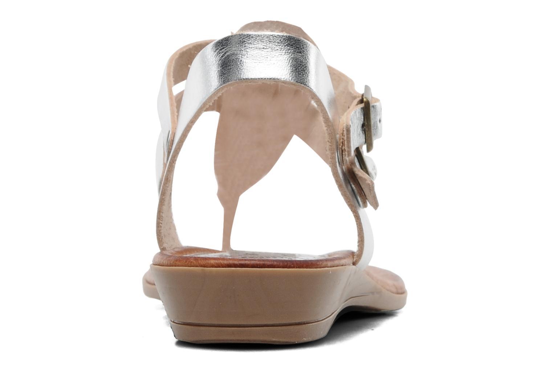 Sandales et nu-pieds Le Routard Markin Argent vue droite