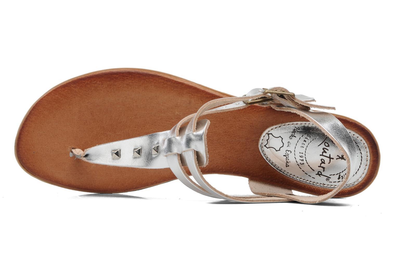 Sandales et nu-pieds Le Routard Markin Argent vue gauche