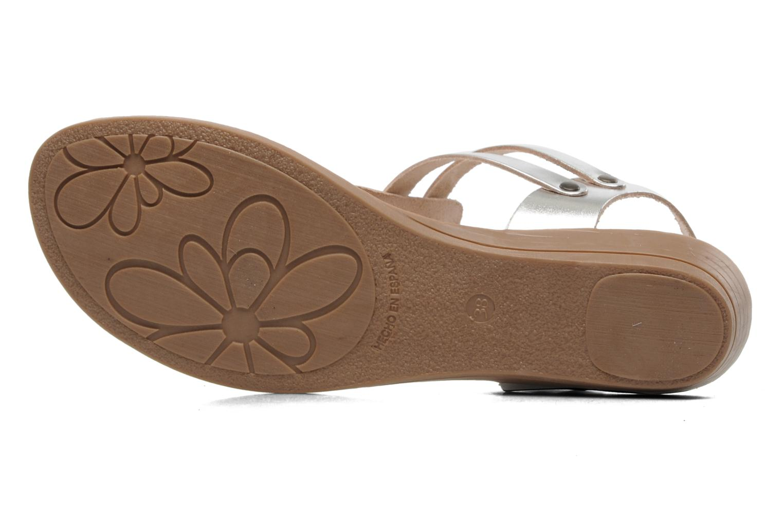 Sandales et nu-pieds Le Routard Markin Argent vue haut