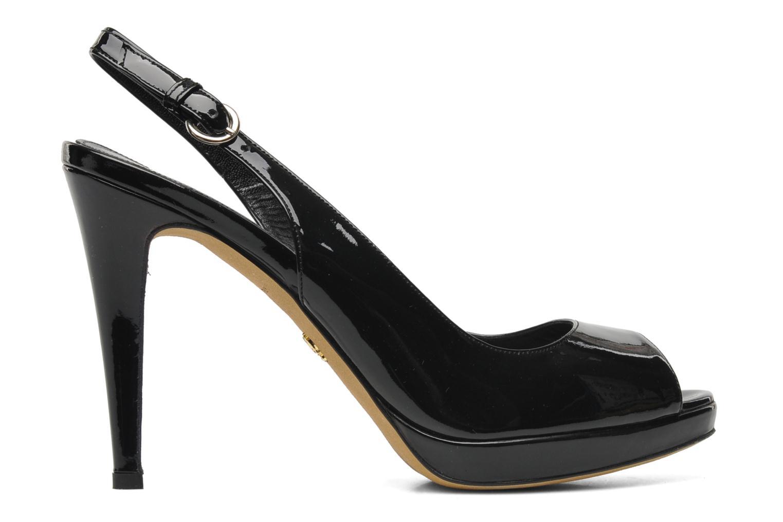 Sandales et nu-pieds Eva Turner Melda Noir vue derrière