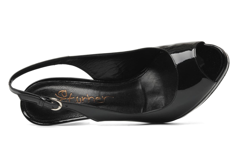 Sandales et nu-pieds Eva Turner Melda Noir vue gauche