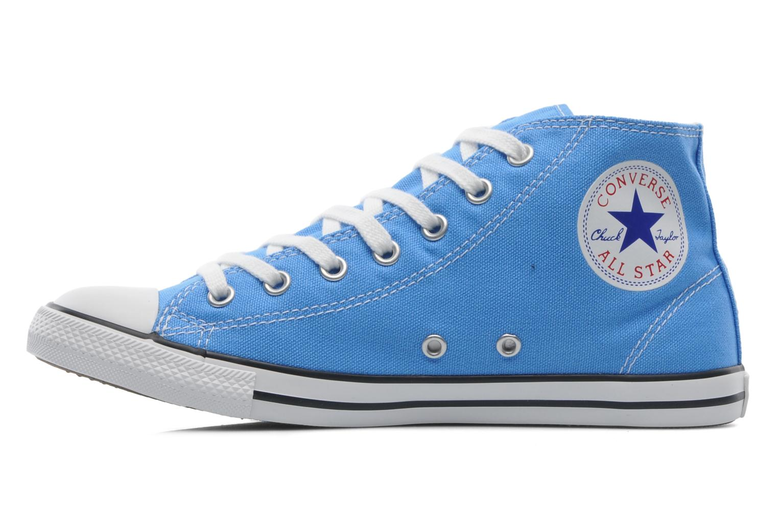 Baskets Converse All Star Dainty Canvas Mid W Bleu vue face