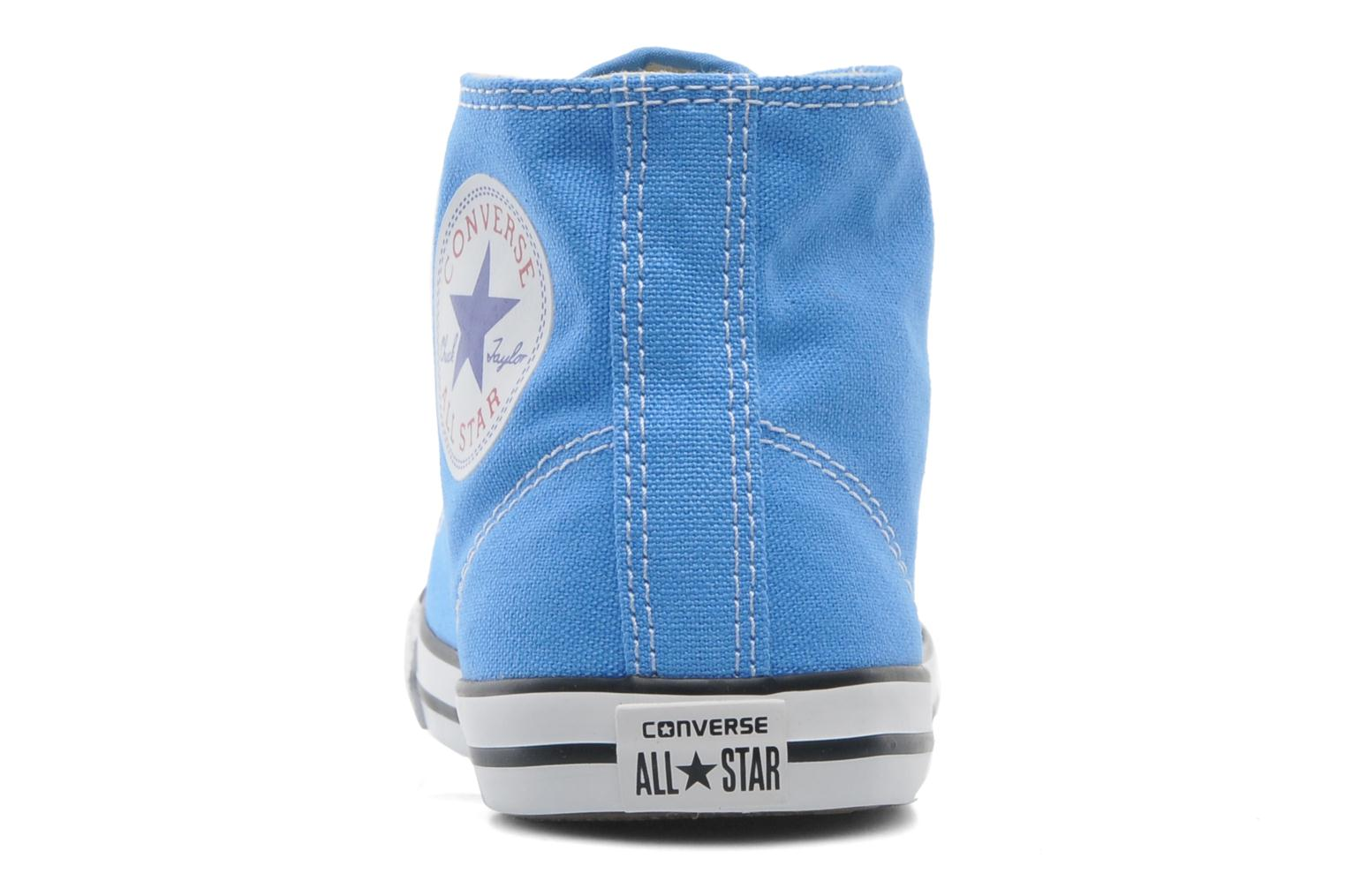 Baskets Converse All Star Dainty Canvas Mid W Bleu vue droite