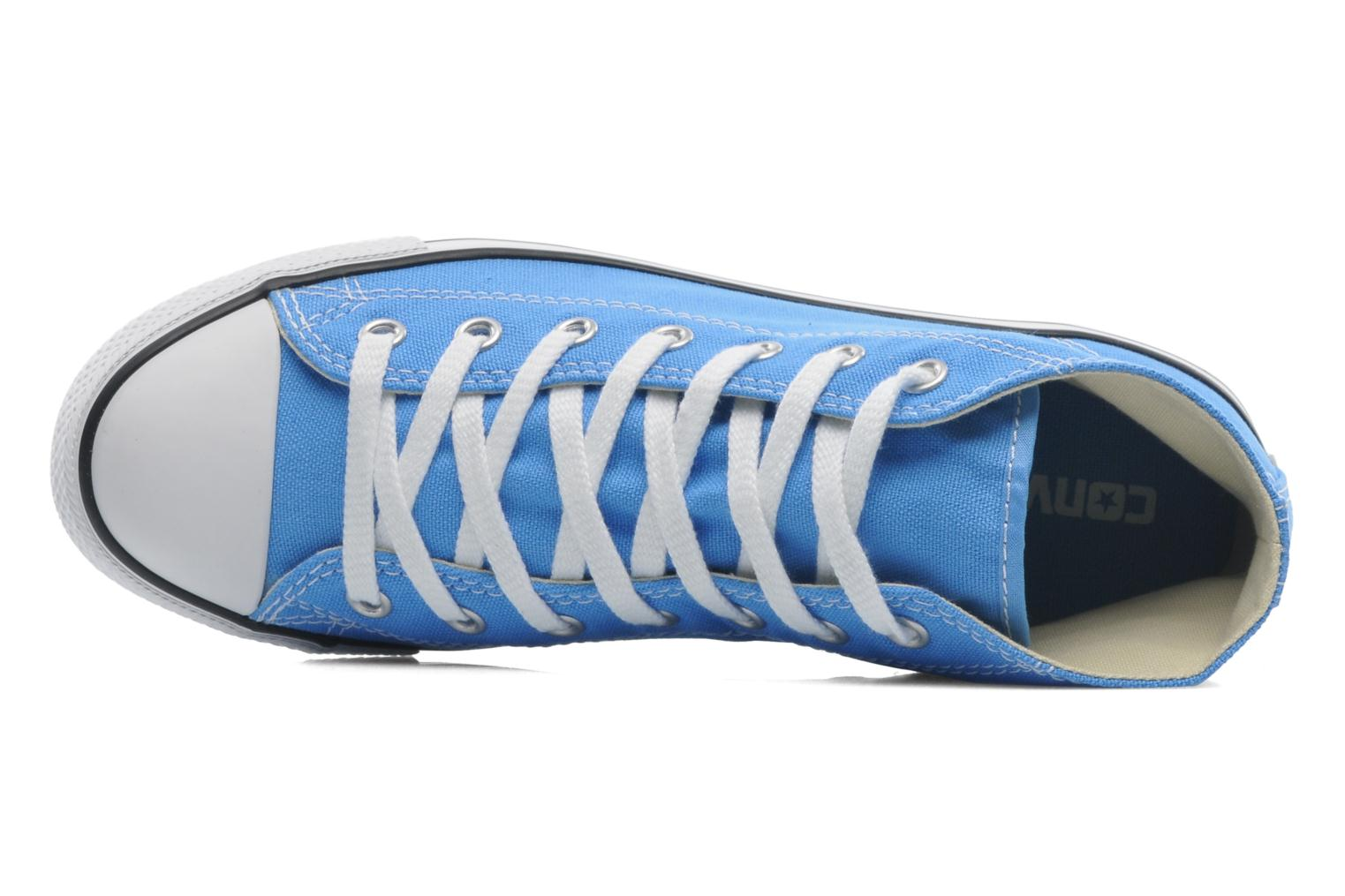 Baskets Converse All Star Dainty Canvas Mid W Bleu vue gauche