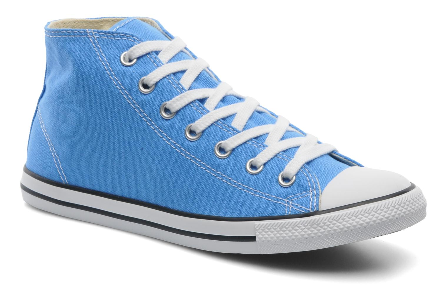 Baskets Converse All Star Dainty Canvas Mid W Bleu vue détail/paire