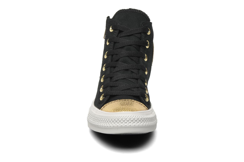 Baskets Converse Chuck Taylor All Star Sparkle Hi W Noir vue portées chaussures