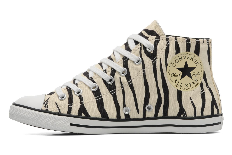 Baskets Converse All Star Dainty Zebra Mid Hi W Beige vue face