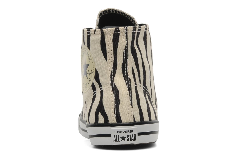Baskets Converse All Star Dainty Zebra Mid Hi W Beige vue droite
