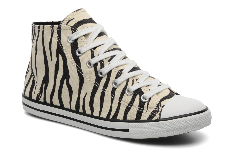 Baskets Converse All Star Dainty Zebra Mid Hi W Beige vue détail/paire
