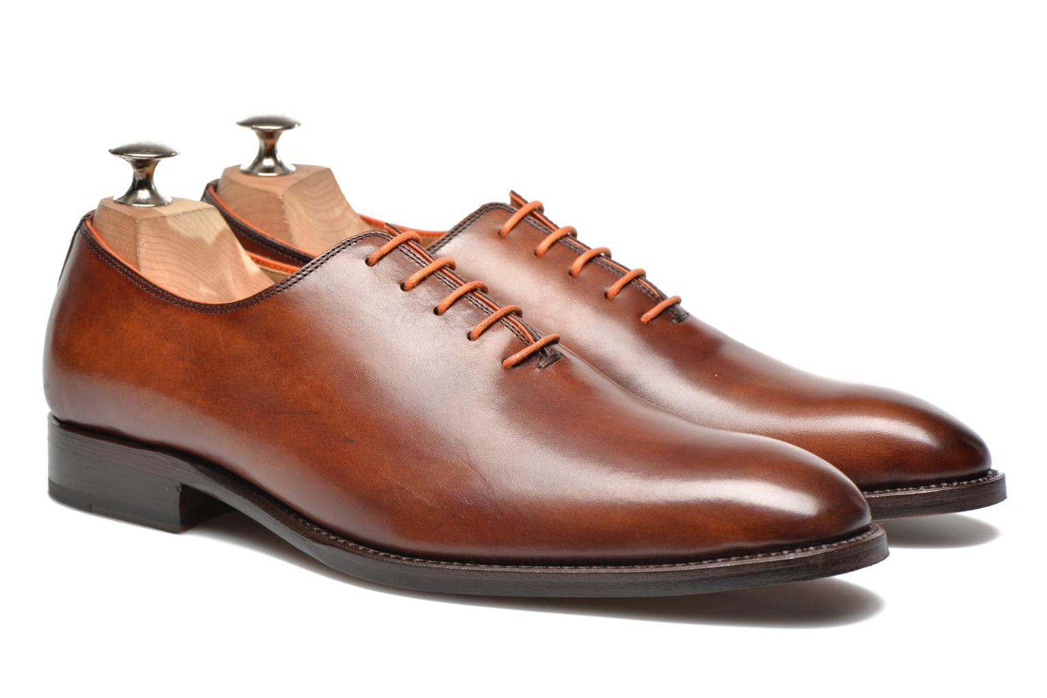 Chaussures à lacets Marvin&Co Luxe Wade - Cousu Goodyear Marron vue 3/4