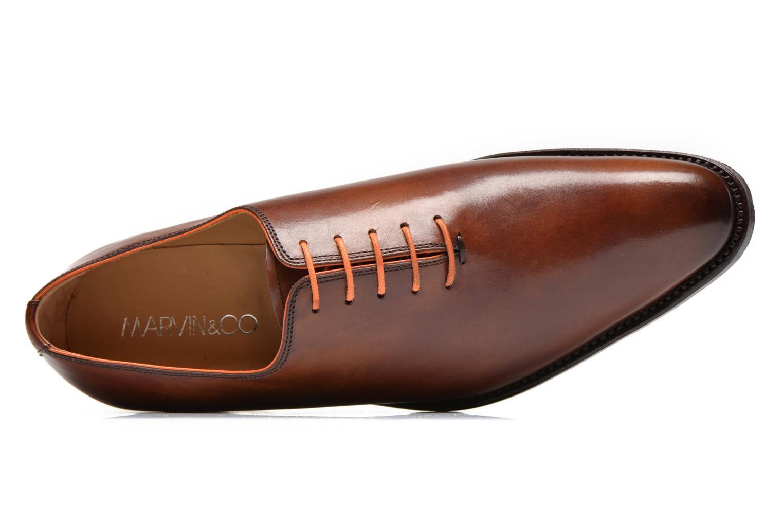 Zapatos con cordones Marvin&Co Luxe Wade Marrón vista lateral izquierda