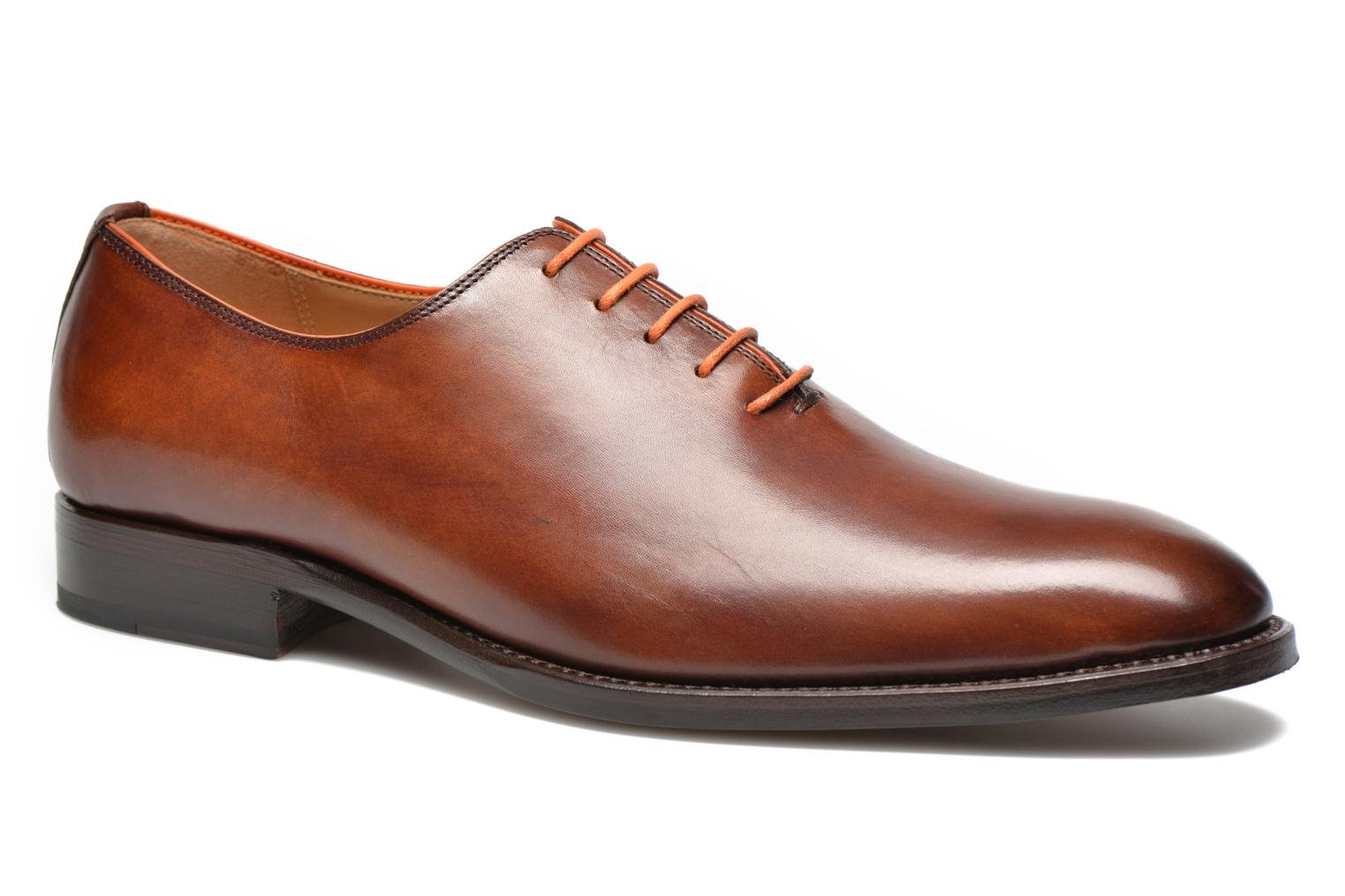 Lace-up shoes Marvin&Co Luxe Wade - Cousu Goodyear Brown detailed view/ Pair view