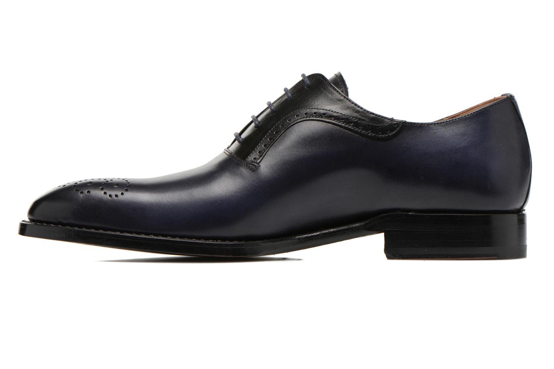 Schnürschuhe Marvin&Co Luxe Walburg blau ansicht von vorne