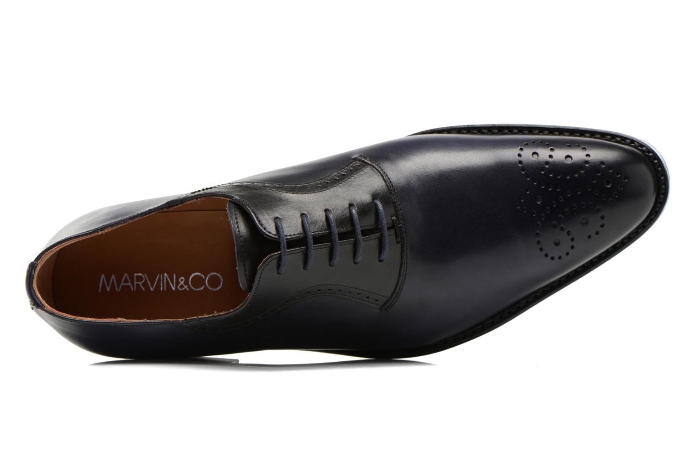 Snörade skor Marvin&Co Luxe Walburg - Cousu Goodyear Blå bild från vänster sidan