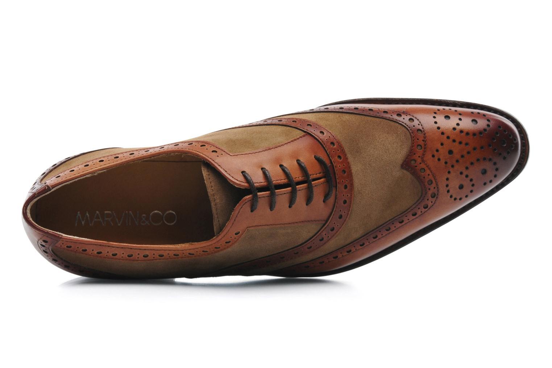 Snörade skor Marvin&Co Luxe Waldemar Brun bild från vänster sidan