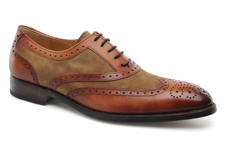 Snörade skor Marvin&Co Luxe Waldemar Brun detaljerad bild på paret
