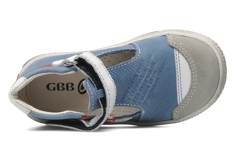 Chaussures à scratch GBB GIMMY Bleu vue gauche