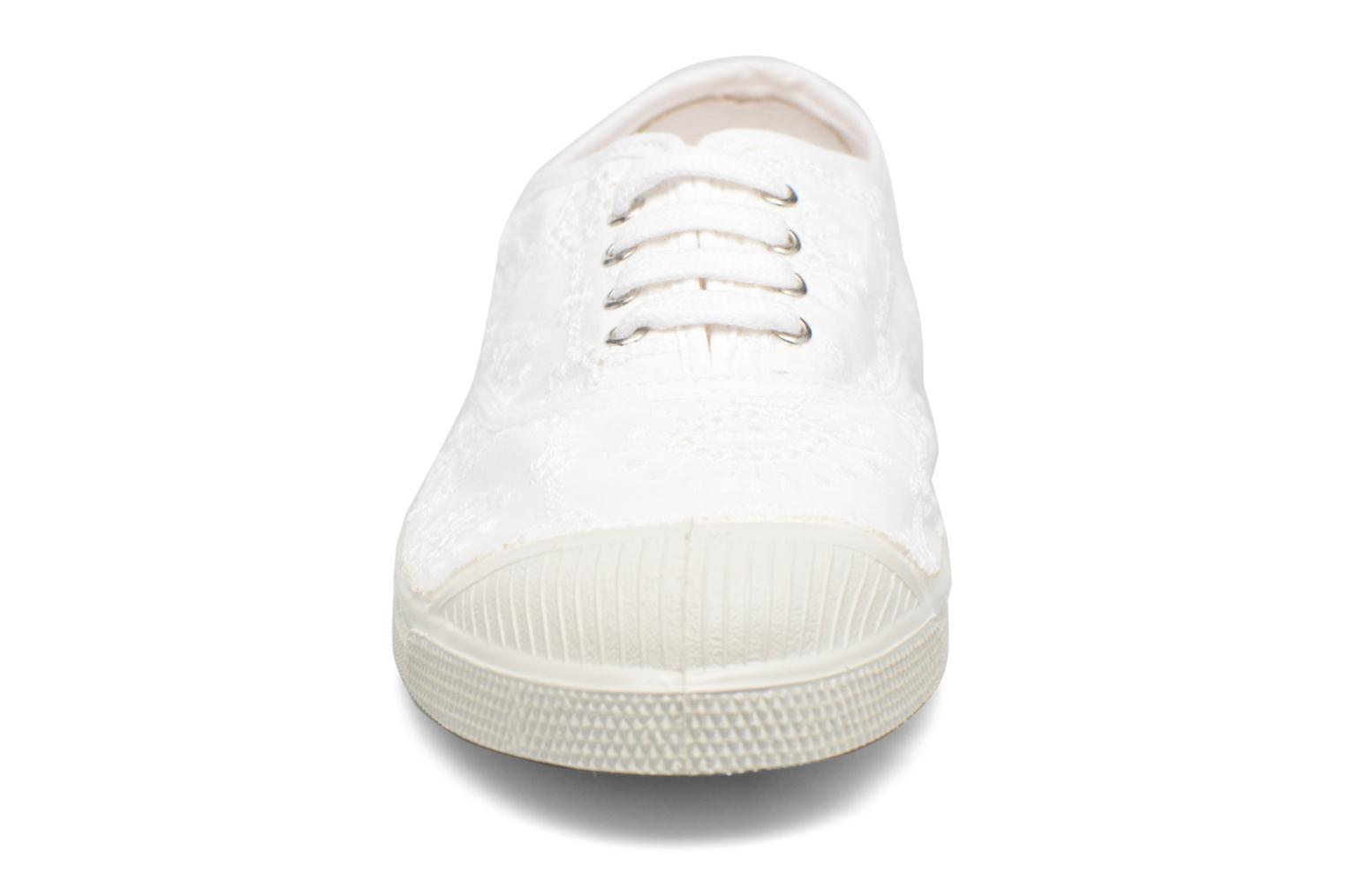 Baskets Bensimon Tennis Broderie Anglaise Blanc vue portées chaussures