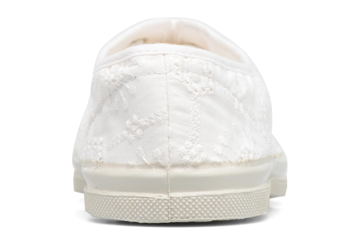 Baskets Bensimon Tennis Broderie Anglaise Blanc vue droite