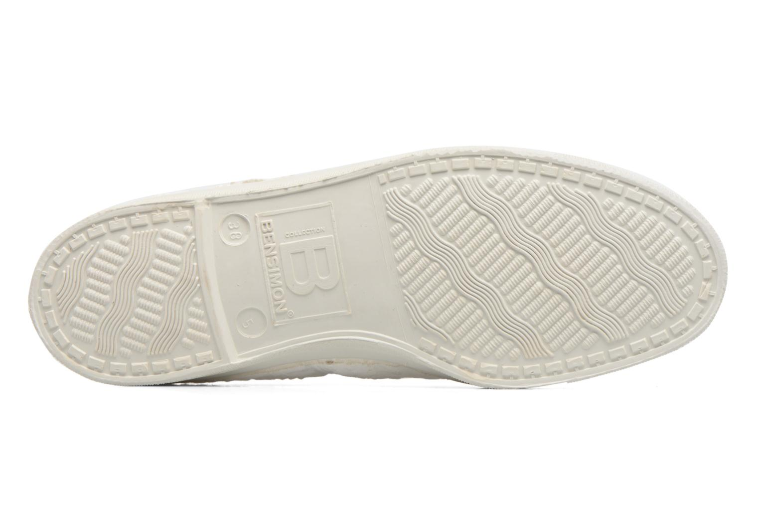 Trainers Bensimon Tennis Broderie Anglaise White view from above