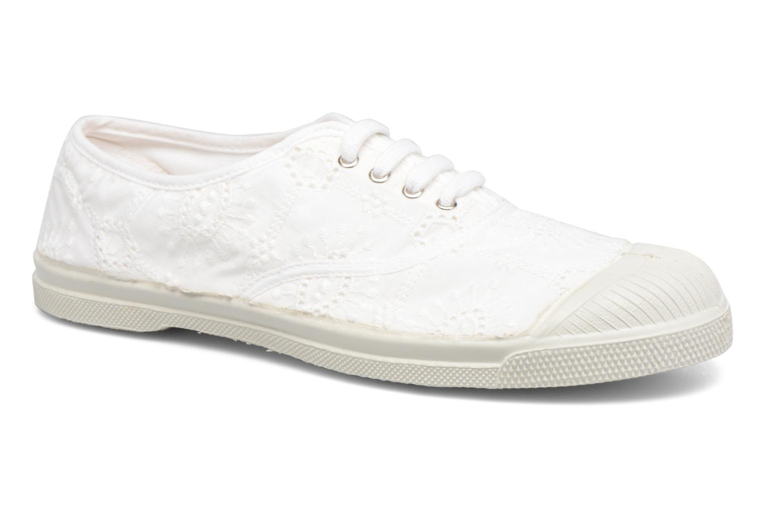 Trainers Bensimon Tennis Broderie Anglaise White detailed view/ Pair view