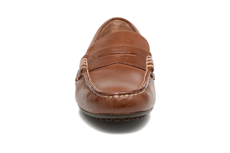Mocassins Polo Ralph Lauren Wes Marron vue portées chaussures