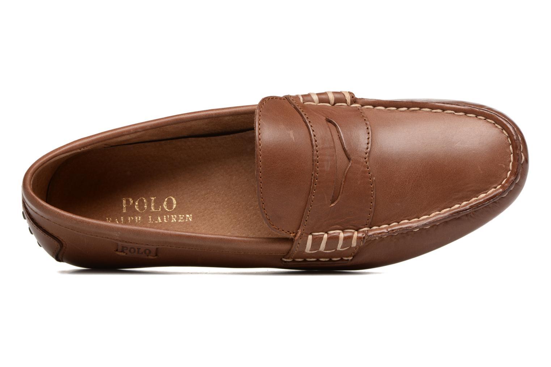 Loafers Polo Ralph Lauren Wes Brun bild från vänster sidan